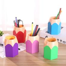 Pencil Vase Pot Office Organizer Pen Storage Box Makeup Brush Holder Stationery Desk Container School Supplies deli office pen container small objects storage box multifunctional desk organizer portable pen holder office school supplies