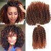 Короткие кудрявые волосы Marley bob, 8 дюймов, 60 прядей/пакет, 90 грамм, синтетические вязаные крючком волосы, косы