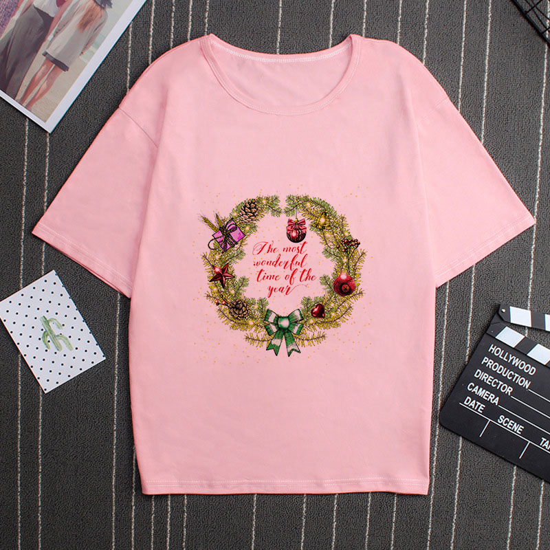 If The Most Wohdlstal Time Of The Yeas Vogue Hipster Christmas Tshirt Women Fashion Cute Pink Tshirt Style Tumblr Female T-shirt