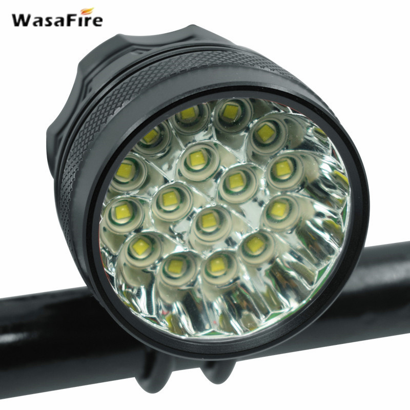 Wasafire Battery 40000 <font><b>lm</b></font> 16*XML-T6 LED Bicycle <font><b>light</b></font> front Headlight Riding Cycling <font><b>Bike</b></font> Front <font><b>Light</b></font> for Outdoor Night Riding image