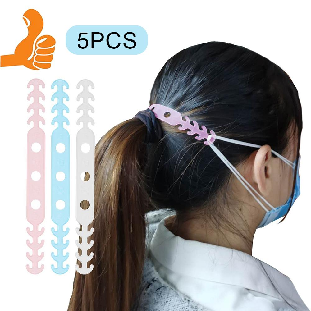 5Pcs Kids Adjustable Soft Face Mask Ear Hooks Buckle Earache Fixer Anti-Slip Mask Ear Grip Extension Hook Masks Buckle Holder