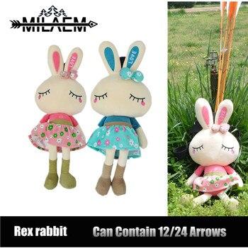 Archery Arrow Quiver Cartoon Rabbit Arrow Holder Cute Creative Arrow Bag Fun Shooting Accessories Plush Toy Kids Gift