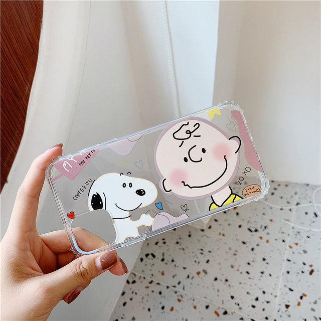 Cartoon couple Charlie Brown Lucy case for iphone