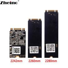 Zheino ssd m.2 64gb 128gb 256gb 2242 mm 2260mm, ssd m2 sata ngff 2280 unidade de disco sólido interno, gb 1tb para pc notebook