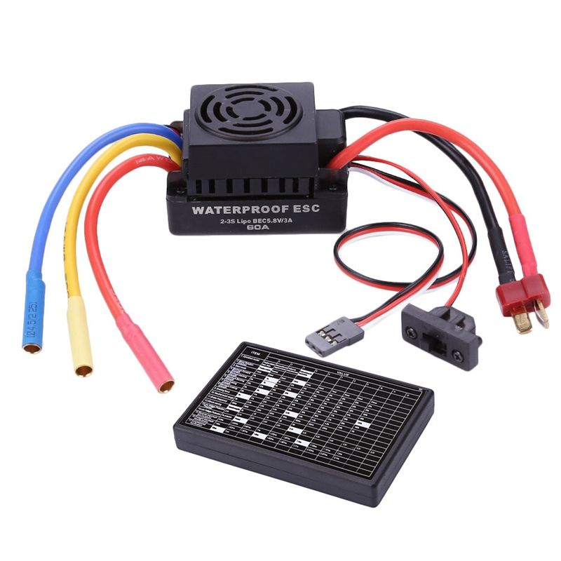 Brushless 60A Esc Programmer For 1/10 Rc Car Truck Motor Kit