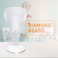 Artificial Diamond Glass Cup Wine Cup Goblet Cup Whisky Mug Party Dessert Wedding Beer Cups Creative Summer Bar Fruit Juice
