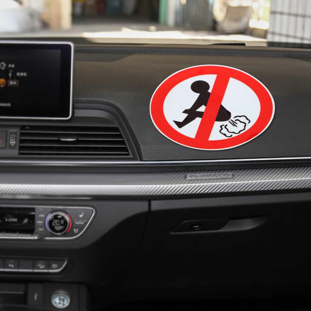 Forauto 12 Cm * 12 Cm Tidak Ada Kentut Mobil Stiker Lucu Ass PVC Decal Mobil Styling Auto Aksesoris