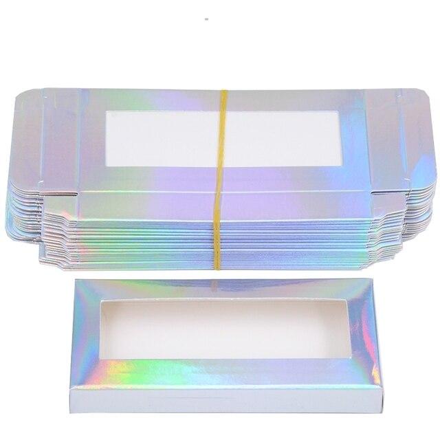 Wholesale Eyelash Packaging Box Lash Boxes Package Custom Without Tray Dark Pink Rectangle Cardboard Makeup Storage Case Vendor 4