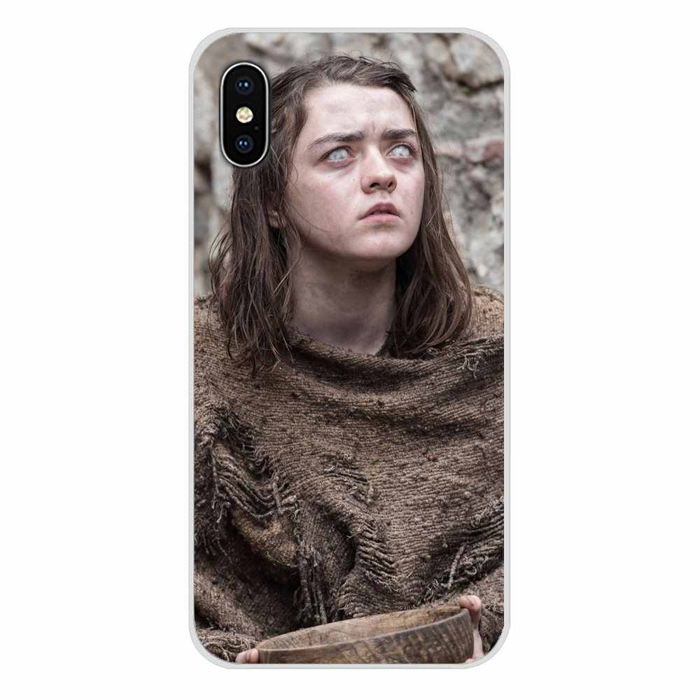 Lembut Transparan Case Cover untuk Apple Iphone X XR XS 11Pro Max S 5 4S 5 5C Se 6S 7 8 PLUS IPod Touch 5 6 Game Of Thrones Arya Stark