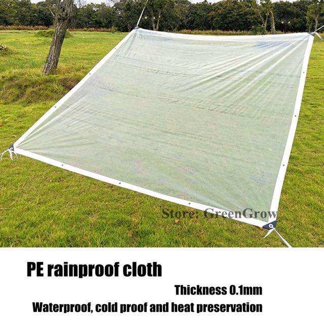 Customize Plastic PE Rainproof Film Tarp Garden Bonsai Succulents Plants Shelter Keep Warm Transparent Film Tarpaulin Cover