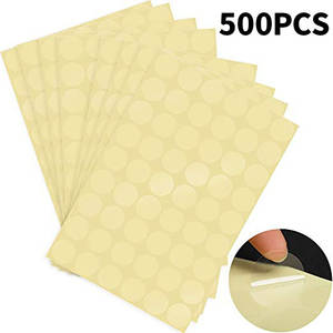 Envelope Stickers Transparent Seal-Labels Package Adhesive Clear Round Retail 500pieces