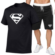 2021New Men's Summer Leisure Sets T-Shirt+Shprts Two Pieces Casual Tracksuit Male Sportswear Gym Brand Clothing Sweat Suit