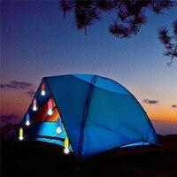 Kolorowe diody LED, lampa wisząca, przenośna, ze sznurkiem, do namiotu, na kemping, żarówka, oświetlenie Retro, do domu, kolorowe, sznur, żarówki, białe światło