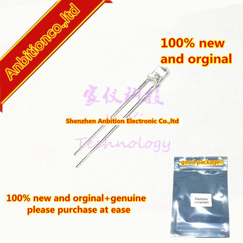 20pcs  100% New And Orginal LTE-4216 Infrared Light Emitting Diode 3mm 940nm ± 20 Degrees Emission INFRARED LED In Stock