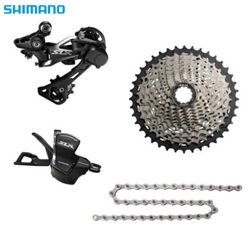 <font><b>Shimano</b></font> <font><b>SLX</b></font> <font><b>M7000</b></font> 4pcs Groupset bike bicycle kit mtb11-speed Rear derailleur Shiffter 40T 42T 46T Cassette with HG601 chain image