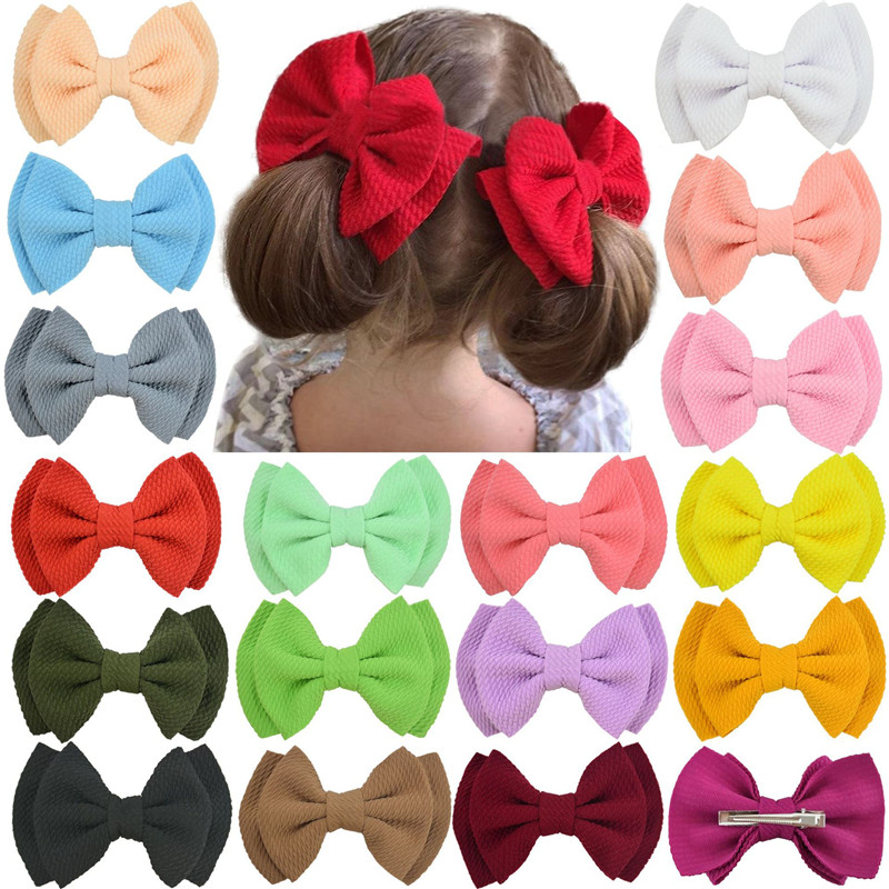 Colorful Baby Hairpins Girls Hair Bow Clips Hair Accessories Kids Hair Clips