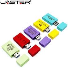 JASTER – clé USB avec logo personnalisé en bois, support à mémoire de 4GB 16GB 32GB 64GB, disque mémoire, cadeau, 1 pièce