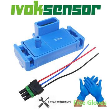 Rękawiczki promocja-nowość dla GM STYLE 3BAR 3 czujnik ciśnienia dla Electromotive Motec Megasquirt z wtyczką 12223861 16040749 tanie i dobre opinie IVOK Czujnik Ciśnienia Powietrza dolotowego SU504 213-101 5S2556 12223861K Manifold Absolute Pressure Sensor 2131562 16040749 213101 12223749