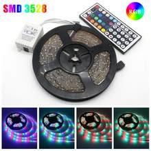 20m smd 3528 led strip light com 44 teclas de controle remoto rgb fita fita lâmpada para tv desktop tela backlight
