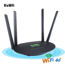 KuWfi kablosuz CPE 4G LTE Wifi yönlendirici 300Mbps 3G/4G LTE Sim kartlı Router yuvası Wan/Lan port 4 adet harici antenler