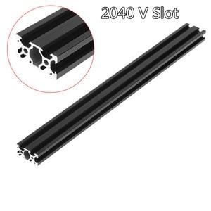 100-1000mm Black 2040 V-Slot Aluminum Profile Extrusion Frame For CNC Laser Engraving Machine Tool Woodworking DIY