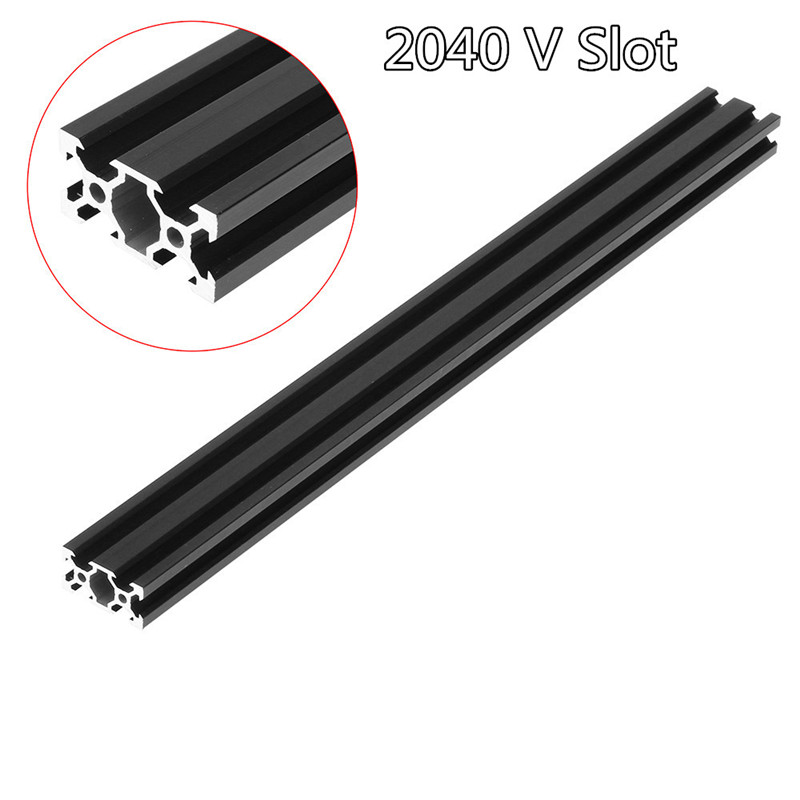100-1000mm Black <font><b>2040</b></font> <font><b>V</b></font>-<font><b>Slot</b></font> Aluminum Profile Extrusion Frame For CNC Laser Engraving Machine Tool Woodworking DIY image