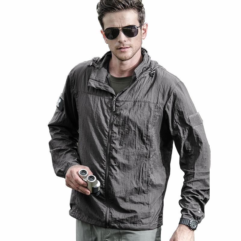 Men women Portable Army Military Jackets Summer Thin Waterproof Windbreaker Quick Dry Tactical Jacket anti-uv Raincoat clothing