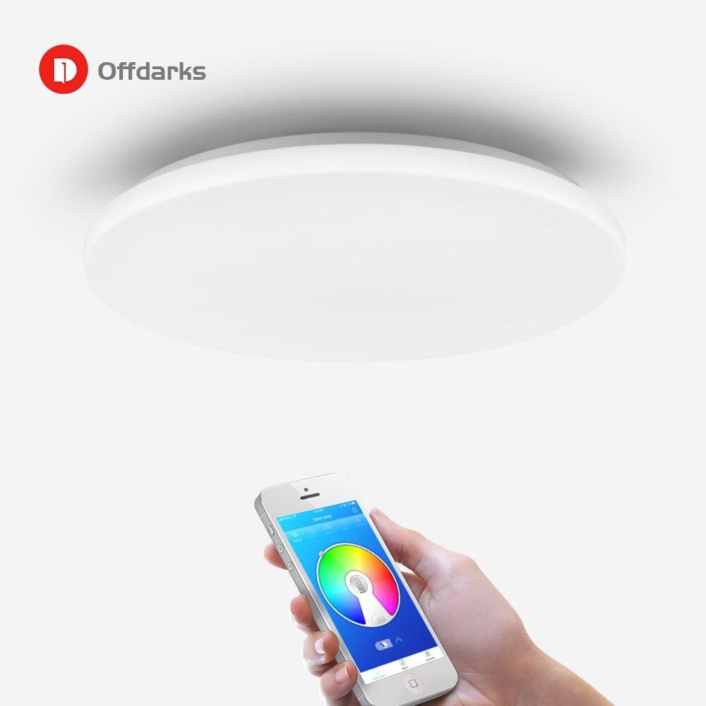 LED moderne plafonnier intelligent 36W48W, APP télécommande rvb gradation Bluetooth haut parleur éclairage à la maison AC85V 265V plafonnier - 2