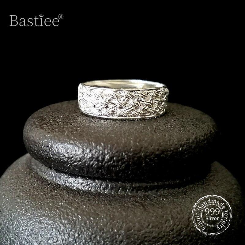 خواتم كلاسيكية من الفضة الإسترليني عيار 999 ، خواتم خطوبة أولية للرجال ، مجوهرات فاخرة مصنوعة يدويًا ، خواتم زفاف ، نسيج عرقي ، شحن مجاني