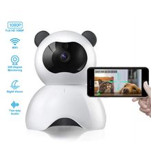 Camera Family Safety Child Safety Camera Panda Style Cute Camera Remote Monitoring 1080P Wireless with Night Vision