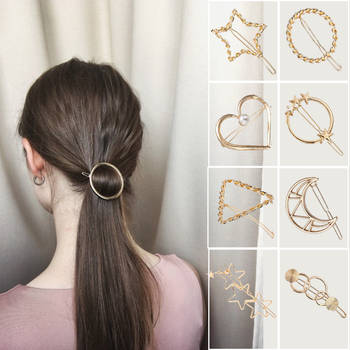M MISM Star Hair Clips for Women Fashion Sweet Imitation Korean Style Hairpins Alloy Metal Headmade Girls INS Hair Accessories