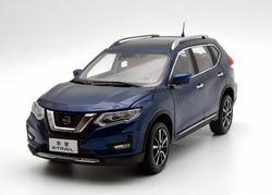 1:18 Diecast Modell für Nissan X-trail Rogue 2018 Blau SUV Legierung Spielzeug Auto Miniatur Sammlung Geschenke Heißer Verkauf xtrail X Trail
