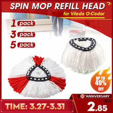 1/3/5pcs Microfiber Spin Mop Clean Refill Replacement Head for Vileda O-Cedar EasyWring Mop Home Cleaning Tools Mop Accessories(China)