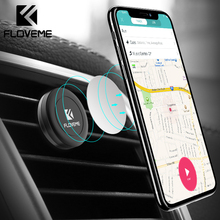 FLOVEME Magnetic Car Phone Holder For iPhone XR XS MAX Samsung Magnet Air Vent Mount Holder For Mobile Phone In Car Holder Stand floveme magnetic car phone holder for iphone samsung 360 air mount magnet holder stand for mobile phone in car gps holders mount