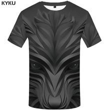 3d Tshirt Wolf T shirt Men Animal Printed Black Shirt Print Geometric T-shirts Harajuku Anime Clothes Short Sleeve