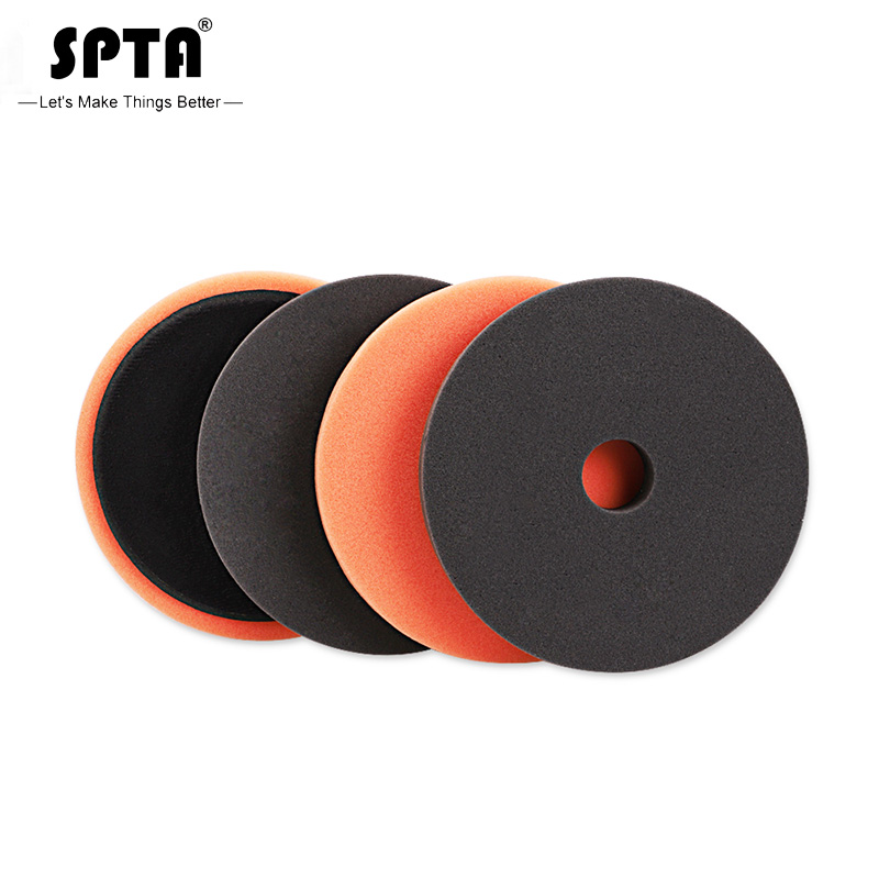 SPTA 6 Inch (150mm) EVA Heavy Cut Sponge Foam Polishing Pads & Buffing Pads For 5Inch (125mm) RO/DA/GA Dual Action Car Polisher