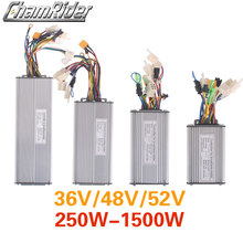 Controlador para bicicleta eléctrica, sin sensor, 36V, 48V, 250W, 350W, 500W, 750W, 1000W, 1500W, mando KT Dual Mode Sinewave