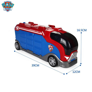 Image 5 - Serie di cani di pattuglia della zampa Set Bus squadra di salvataggio Toy Car Patrulla Canina Action Figure Toy Model bambini regalo di compleanno di natale