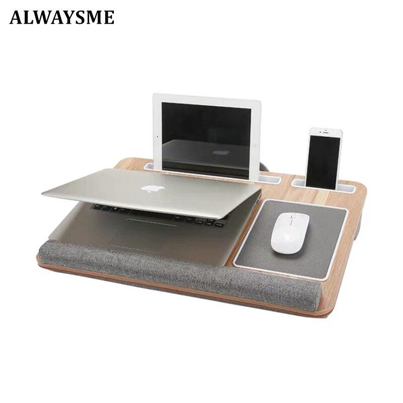 Стол для ноутбука ALWAYSME подходит для 17-дюймового ноутбука, коврика для мыши и напульсника для ноутбука, MacBook, планшета с держателем для планше...