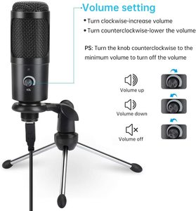 Image 5 - USBคอนเดนเซอร์ไมโครโฟนสำหรับคาราโอเกะคอมพิวเตอร์สตูดิโอไมโครโฟนสำหรับBM 800 YouTube GAMINGไมโครโฟนพร้อมขาตั้งShock MOUNT