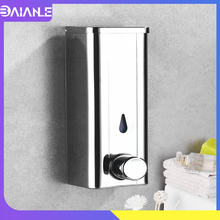 цена на Liquid Soap Dispenser Stainless Steel Kitchen Soap Dispenser Wall Mounted Pressure Hotel Bathroom Shower Gel Shampoo Bottles