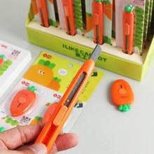 Yeni gelenler Kawaii taşınabilir Mini havuç sanat bıçak Express açma zarf ofis kağıdı kesme sanat bıçağı okul kırtasiye