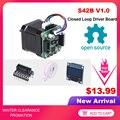 BIGTREETECH S42B V1.0 Закрытая петля драйвер плата управления 42 Шаговый двигатель OLED 3D-принтер части для SKR V1.3 SKR V1.4 Ender-3