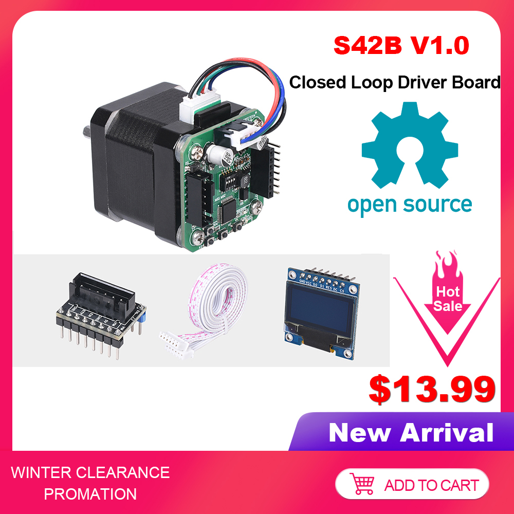 BIGTREETECH S42B V1.0 Closed Loop Driver Control Board 42 Stepper Motor OLED 3D Printer Parts For SKR V1.3 SKR V1.4 Ender-3