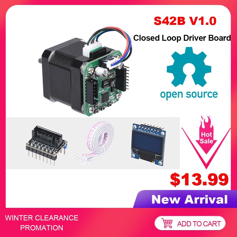 BIGTREETECH S42B V1.0 Closed Loop Driver Control Board 42 Stepper Motor OLED 3D Printer Parts For SKR V1.3 SKR V1.4 Ender-3