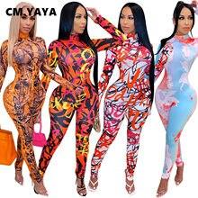 CM.YAYA – combinaison à col roulé pour femmes, combinaison moulante, Sexy, Club, une pièce