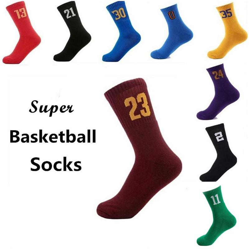 High Quality Men's Red Team Basketball Socks Air Permeability Thickening Socks Perspiration Odor Resistant Friction Proof Socks