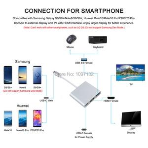 Image 4 - 1080P HDMI di Tipo C Adattatore Per Nintend Interruttore di Ricarica Portatile Dock Per Interruttore NS USB 3.0 a HDMI Video convertitore