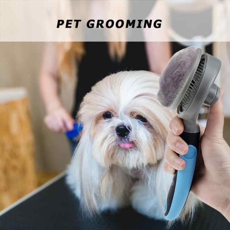 Multi-Purpose หวีสัตว์เลี้ยงขนสุนัขหวีแมวขนสัตว์ทำความสะอาดแปรงเดิม Grooming มือจับพลาสติกเข็มหนาแน่นหวี