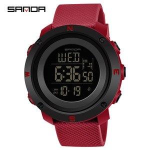 Image 3 - 2019 三田新 30 メートル防水レディース腕時計多機能スポーツの女性はデジタル LED 表示の女性の腕時計